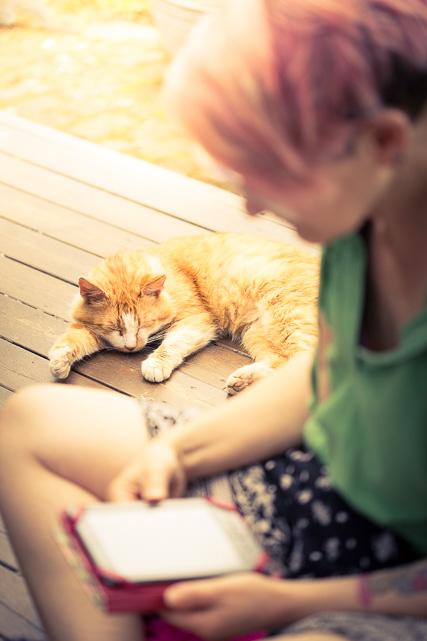 Ich und die rote Ginger Katze