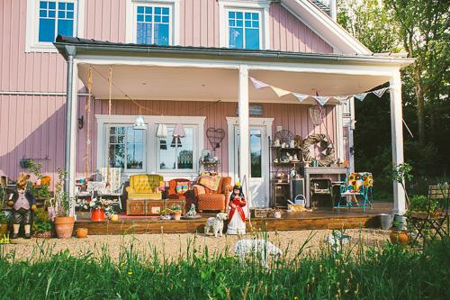 Die Veranda vom rosa Haus